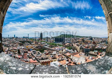 View From Church Tower, Barcelona - Spain