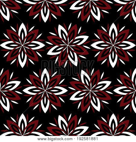 Modern stylish floral flower pattern for textile wallpaper pattern fills covers surface print gift wrap scrapbook decoupage Seamless abstract dark classic pattern