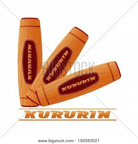 Hand Fidget Kururin Flat Vector Illustration