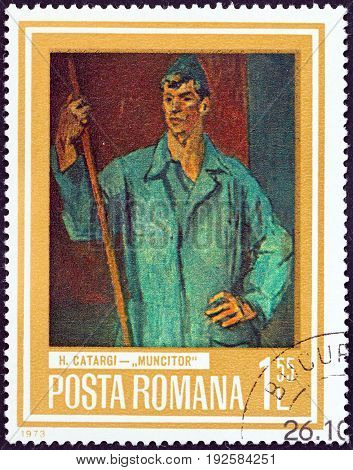 ROMANIA - CIRCA 1973: A stamp printed in Romania from the