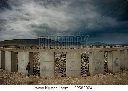View of Achill henge, Achill, Co. Mayo.