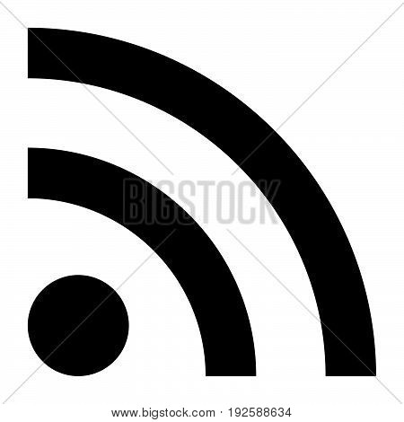News Line Sign  The Black Color Icon .