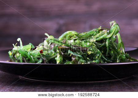 Hiyashi Wakame Chuka Or Seaweed Salad, Japanese Food