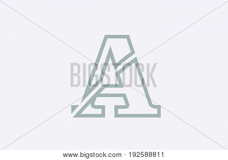 A Line Alphabet Letter Logo Icon Template Company
