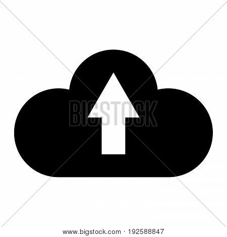 Cloud Service  The Black Color Icon .
