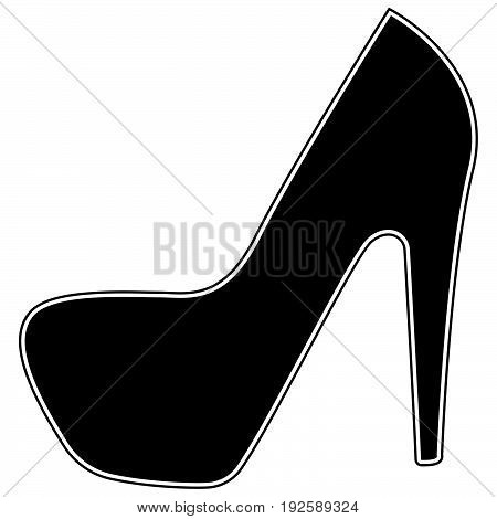 Woman Shoes  The Black Color Icon .