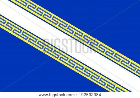 Flag of Champagne is a historical province in the northeast of France. Vector illustration