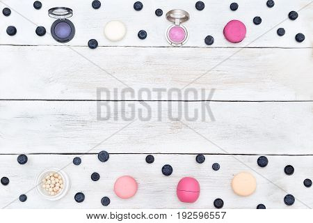Mock up for your blog. cosmetics flat lay