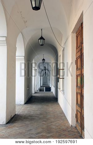 KIEV, UKRAINE - MAY 1, 2011: This is the gallery of the Gostiny Dvor which is an object of cultural heritage on the Kontraktova Square on Podol.