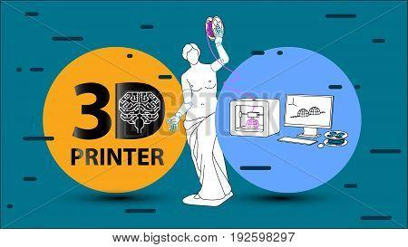 3D Printer. Arms For Venus De Milo