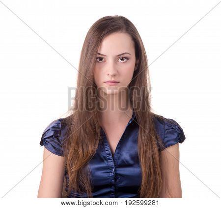 Headshot of a brown hair lady looking at the camera