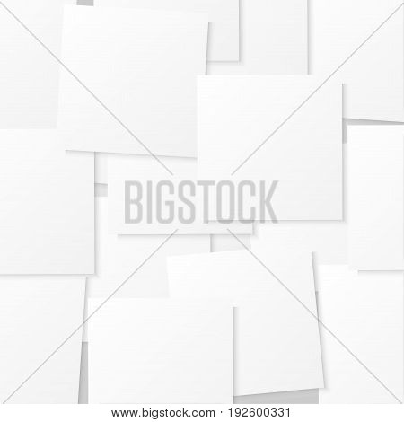 Sticks note papers on white background. Vector