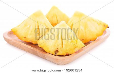 pineapple with slices isolated on white background, fruit, food,