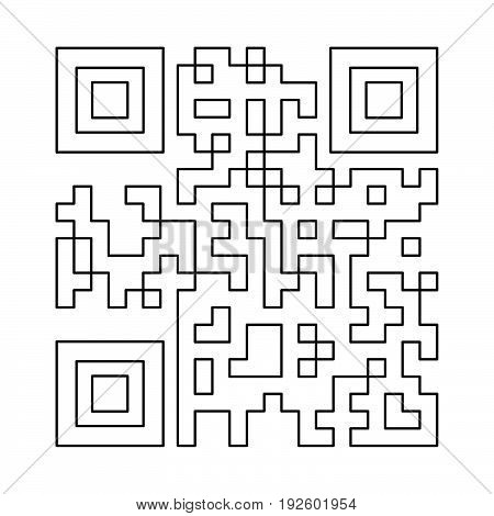 Qr Code  The Black Color Icon .