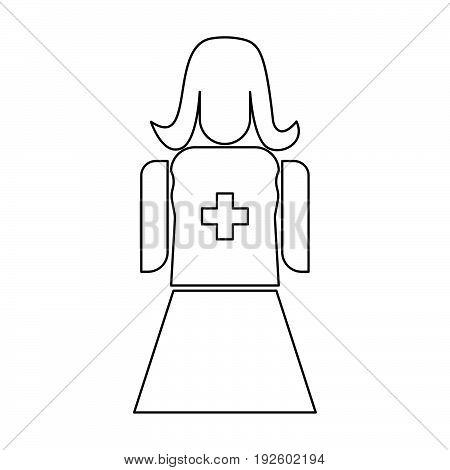 Nurse  The Black Color Icon .