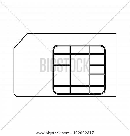 Sim Card  The Black Color Icon .