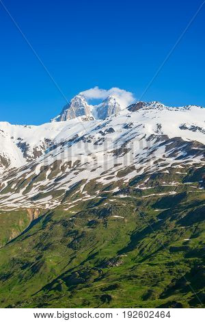 Snow-capped Peaks Of Mountains
