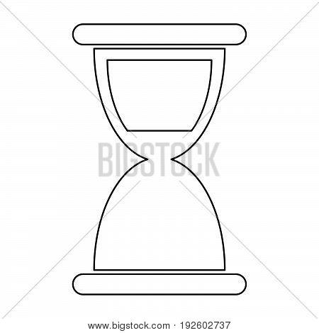 Hourglass  The Black Color Icon .