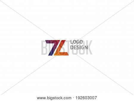 Creative geometric logo, number seven and letter L