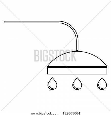 Shower  The Black Color Icon .