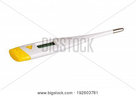 Electronic modern thermometer isolated on a white background