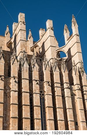 Detail of the Palma de Mallorca Cathedral
