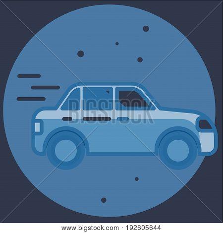 Car Icon mobile flat design illustration graphic.