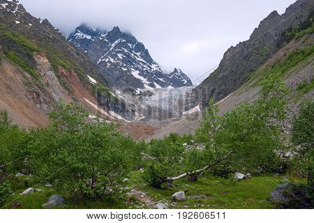 Magical View Of The Glacier