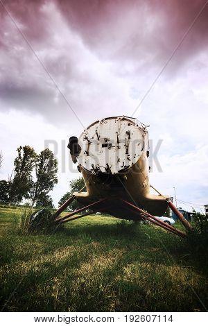 Abandoned Plane On A Overgrown Aerodrome