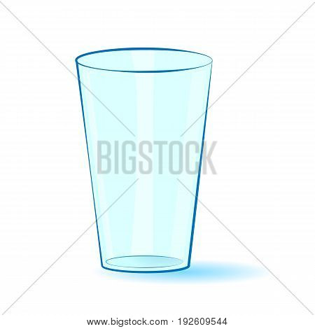 Empty glass isolated on a white background. Vector