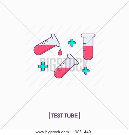 Collection of test tubes with red liquid