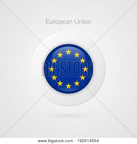 Europe flag vector sign. Isolated European Union circle symbol. EU illustration icon with starts for presentation business marketing project advertisement travel concept web design badge logo