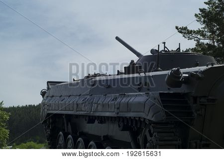 Soviet infantry fighting vehicle in the park