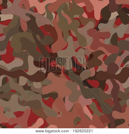abstract vector spotted background - red and brown