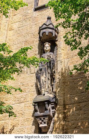 Statue In The Old Town Of Goslar