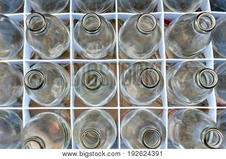 Empty Soda Glass Bottles