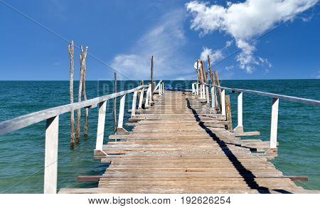Handmade Wooden Bridge In Island Bay