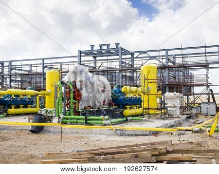 Oil and Gas Plant under construction in the Delta in Egypt
