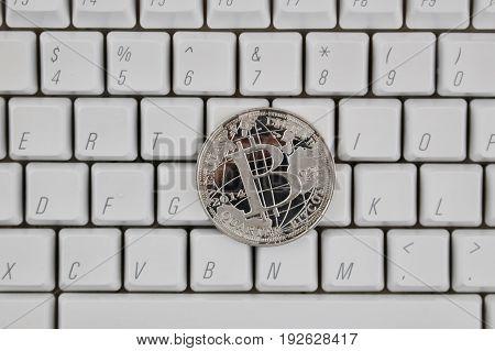 Silver Bitcoin Coin
