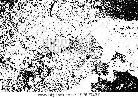 Old painted wall distressed vector texture. Obsolete surface texture with dust and noise. Weathered asphalt surface. Aged and scratched surface monochrome overlay for vintage effect. Grit trace