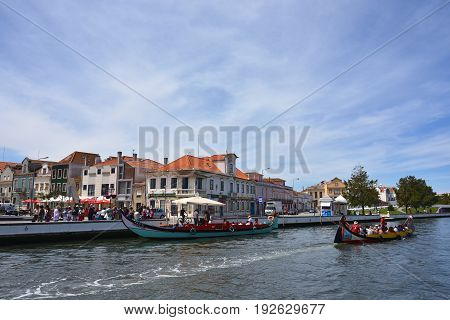 Traditional Boats In Vouga River, Aveiro, Portugal