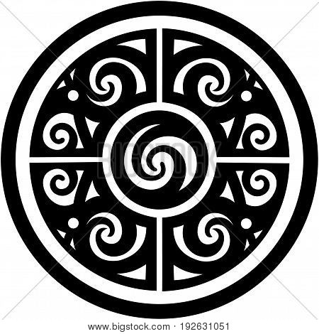 west borneo dayak tribal circle design for tatto