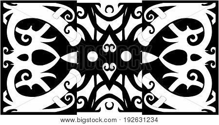 west borneo dayak tribal floral design for tatto
