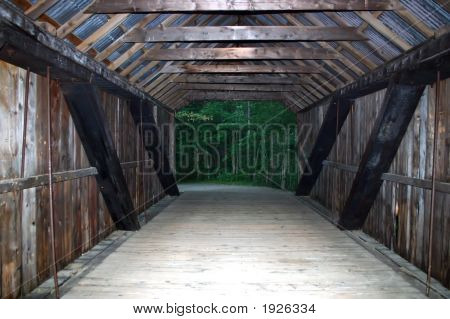 Inside Old Covered Bridge