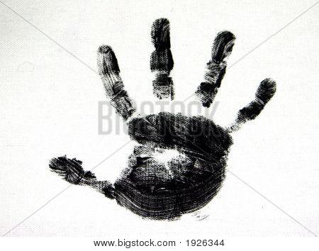 Monochrome Child's Handprint