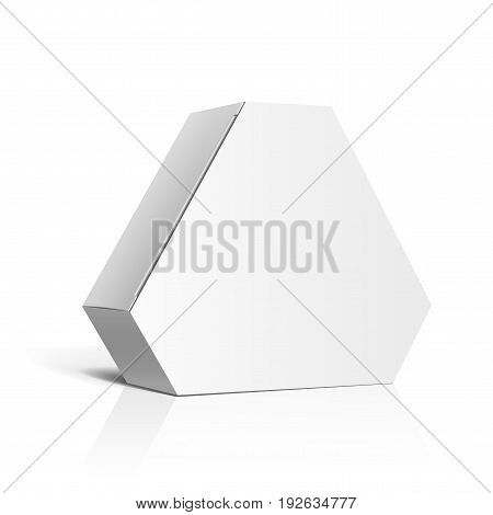 Realistic White Package carton Box In the form of a polygon For other products. Vector illustration. Template For Mockup Your Design. vector illustration.