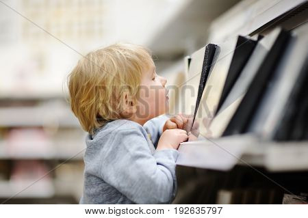 Family With Little Boy Choosing The Right Furniture For Their Apartment In A Modern Home Furniture S