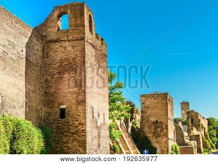 Ruins Of The The Aurelian Walls, Rome,italy