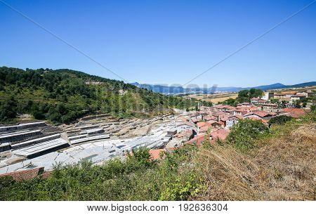 Salinas De Anana In Basque Country, Spain