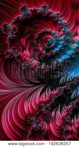 Abstract Textured Swirl Pattern